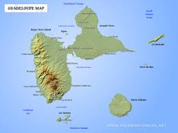 guadeloupe map geographical features of guadeloupe of the