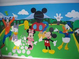 ideal mickey mouse clubhouse wall decals wall art and wall with regard to favorite mickey mouse