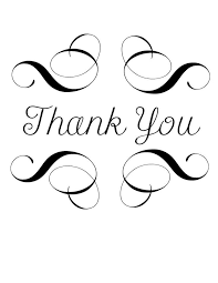 Thank You Black And White Printable Christmas Thank You Clipart 65 Cliparts
