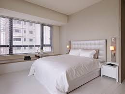 Small White Bedrooms Small White Bedroom Design White Brown Cotton Pillows Grey Lounge