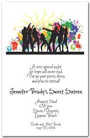 Dance Invitation Ideas Silhouette Dance Party Invitations