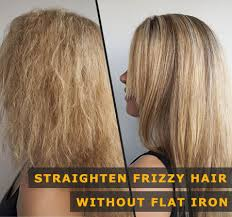 to straighten hair without a flat iron