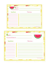 5x7 border template banana strawberry pineapple background recipe card 4x6 5x7
