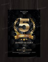 Black Flyer Backgrounds Anniversary Night Free Psd Flyer Template Free Psd Flyer