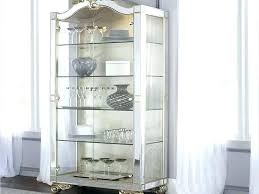 Glass Curio Cabinet Contemporary Cabinets Modern  Ideas   For Sale A51