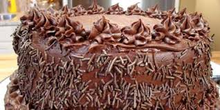 Double Vanilla Cake With Dark Chocolate Frosting Recipes Food