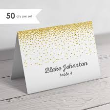 Folded Place Cards 50 Gold Wedding Place Cards Folded Place Cards Gold Escort Cards Wedding