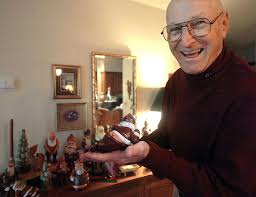 jim siegl has carved about 130 wooden santas which are painted by his wife helen i get a real enjoyment in seeing something out of nothing jim siegl