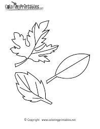 Fall Leaves Coloring Pages For Kindergartenllll