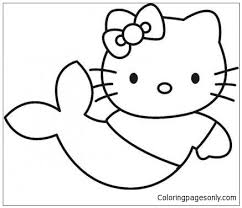 Please check your printer settings before you click the final print. Hello Kitty Little Mermaid Coloring Pages Cartoons Coloring Pages Free Printable Coloring Pages Online