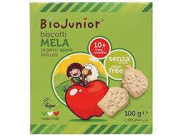 Bánh ăn dặm hữu cơ Biojunior vị táo hộp 100g