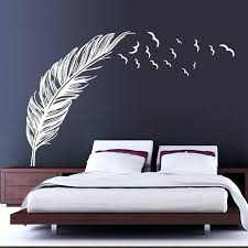 black and white wall stickers black white feather art vinyl e wall stickers home wall decals black and white wall stickers