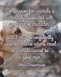 Compassion For Animals Is Intimately Associated With Goodness Of