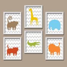 boy jungle theme safari animals jungle nursery zoo baby boy nursery wall art boy bedro