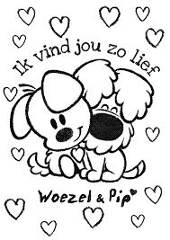 Woezel En Pip Ik Vind Jou Zo Lief Kids Kleurplaten Moederdag