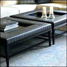 turn coffee table into tufted ottoman in oval full size