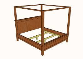 DIY Farmhouse Canopy Bed plans - King Size » Famous Artisan