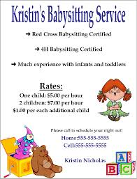 how to start a baby sitting business infobarrel sample flyer