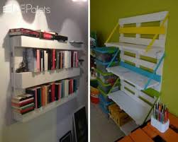 recycle old pallets into handy hanging shelving units for any room of the home