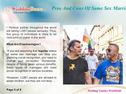 pros and cons of same sex marriage pros and cons of same sex