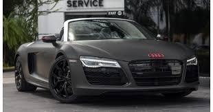 black audi. halo car matte black 2014 audi r8 v10 for sale autofluence