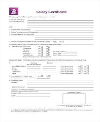 Salary Certificate Sample Proof Of Employment Format