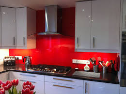 Interesting Red And White Kitchen Cabinets With Modern Style Ideas