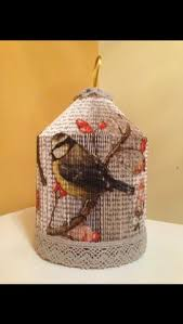 birdcage with decoupage finish andi s crafty creations on facebook book craftscraft bookspaper craftsbook foldingfolded