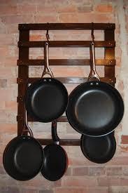 diy kitchen decor pot rack