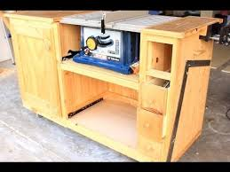 workbench plans with table saw. diy table saw workstation part 1 workbench plans with a