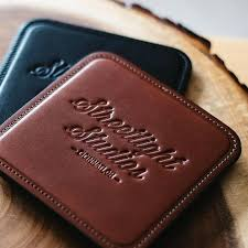 personalized leather coasters fine leather goods personalized leather coasters canada personalized leather coasters