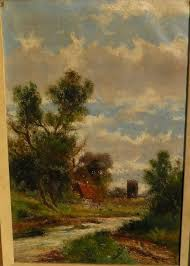 Abraham Hulk Jr 1851 1922 English Landscape Painting By Well Known Listed Artist