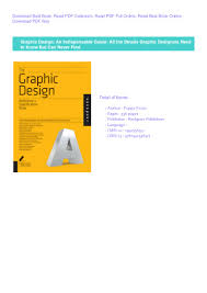 Book Graphic Design Pdf Book Graphic Design An Indispensable Guide All The Details