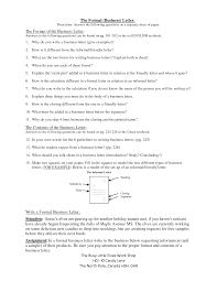 Writing Formal Business Letter Template Mediafoxstudio Com