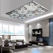 meerosee modern crystal led ceiling light fixture square crystal ceiling lamp for hallway corridor fast ready stock md88060 led lighting led