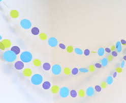 Monster Inc Baby Shower Decorations Monsters Inc Theme 1st Birthday Decor 10 Ft Paper Garland