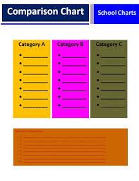Comparison Chart Template Word Comparison Chart Template Free Printable Excel Word Template