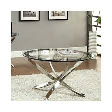 glass coffee table round metal chrome living room furniture modern x legs new what s it worth gold glass coffee table silver metal glass coffee table