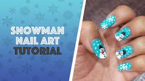Snowman nail art / Snowflakes nail art / Winter nails   Tutorial ...