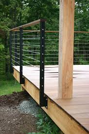 this deck is totally diffe most are built completely out of wood with wood posts and wood pickets but this one is diffe