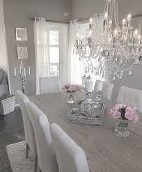 gray and white dining room ideas. perfect table \u0026 chair combination, can lose the chandelier gray and white dining room ideas