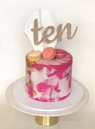 Ten Cake Topper 10th Birthday Decorations Tenth Birthday Etsy