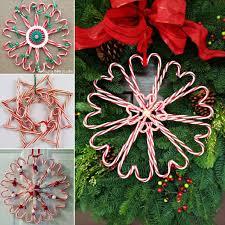 Wonderful DIY Christmas Candy Cane Wreath  Candy Cane Wreath Candy Cane Wreath Christmas Craft