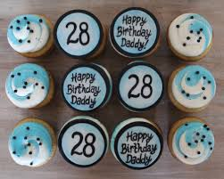 Cupcake Designs For Men Birthday Cupcakes For Him Men Guy Boy Blue White And