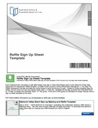 Raffle Sign Up Sheet Template Fillable Online Raffle Sign Up Sheet Template Mybooklibrary Com