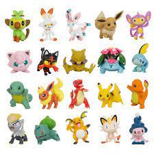 3 8CM Pokemon Figuren Puppen Sammlung Pikachu Cartoon Pokémon Serie Anime  Modell Ornamente Spielzeug Kinder Geburtstag Geschenk|Action Figures