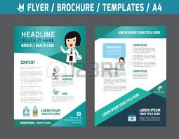 Medical Brochures Templates Impressive Blue Medical Flyer Template Brochure Background Leaflet With Health