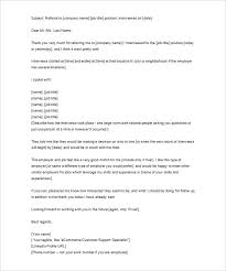sle job interview thank you letter