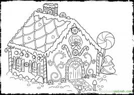 Small Picture Gingerbread House Coloring Page To Print Aquadisocom