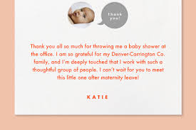 Thank you card for baby shower gift. How To Write A Thank You Card And Send It On Time Paperless Post Blog